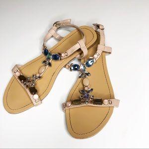 Madeline Jeweled Sandals sz 7